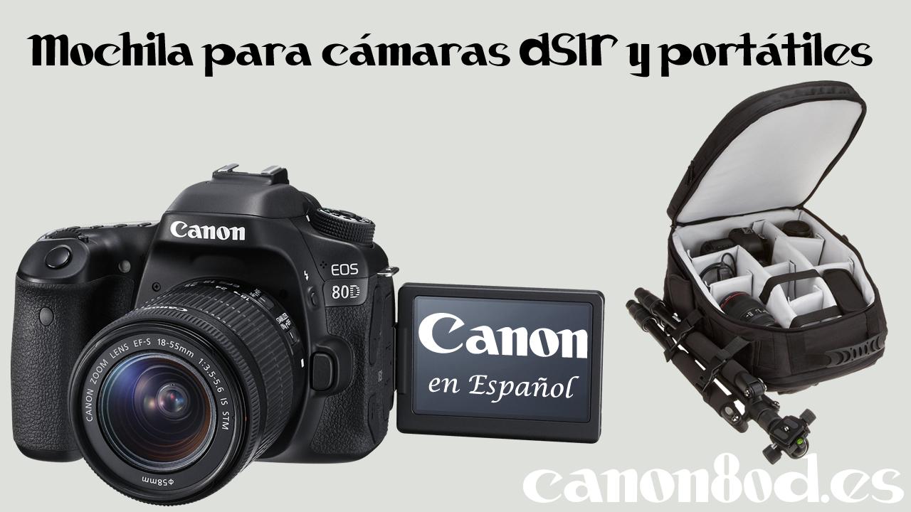 Mochila para cámaras DSLR y portátiles